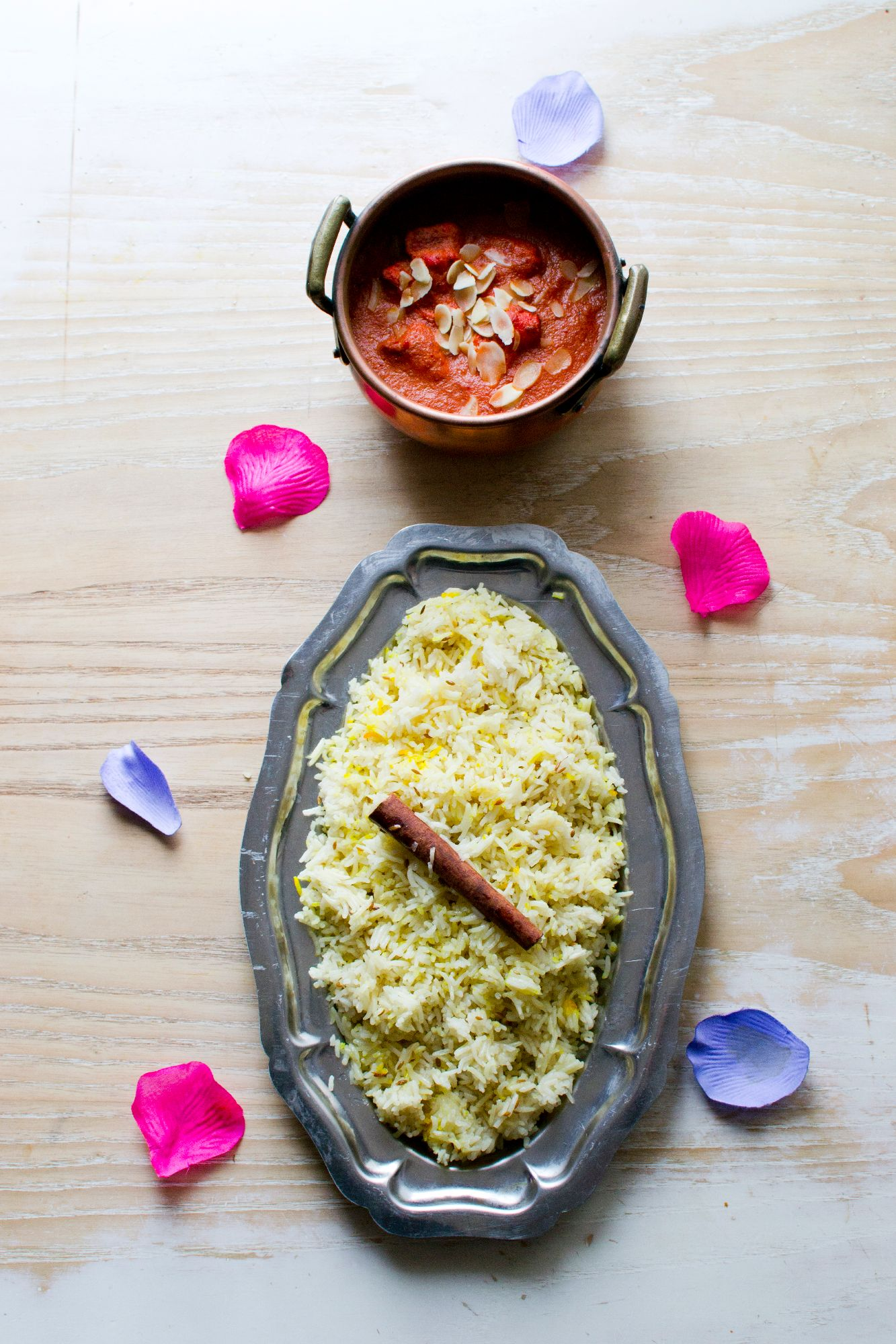 Butter chicken et riz indien