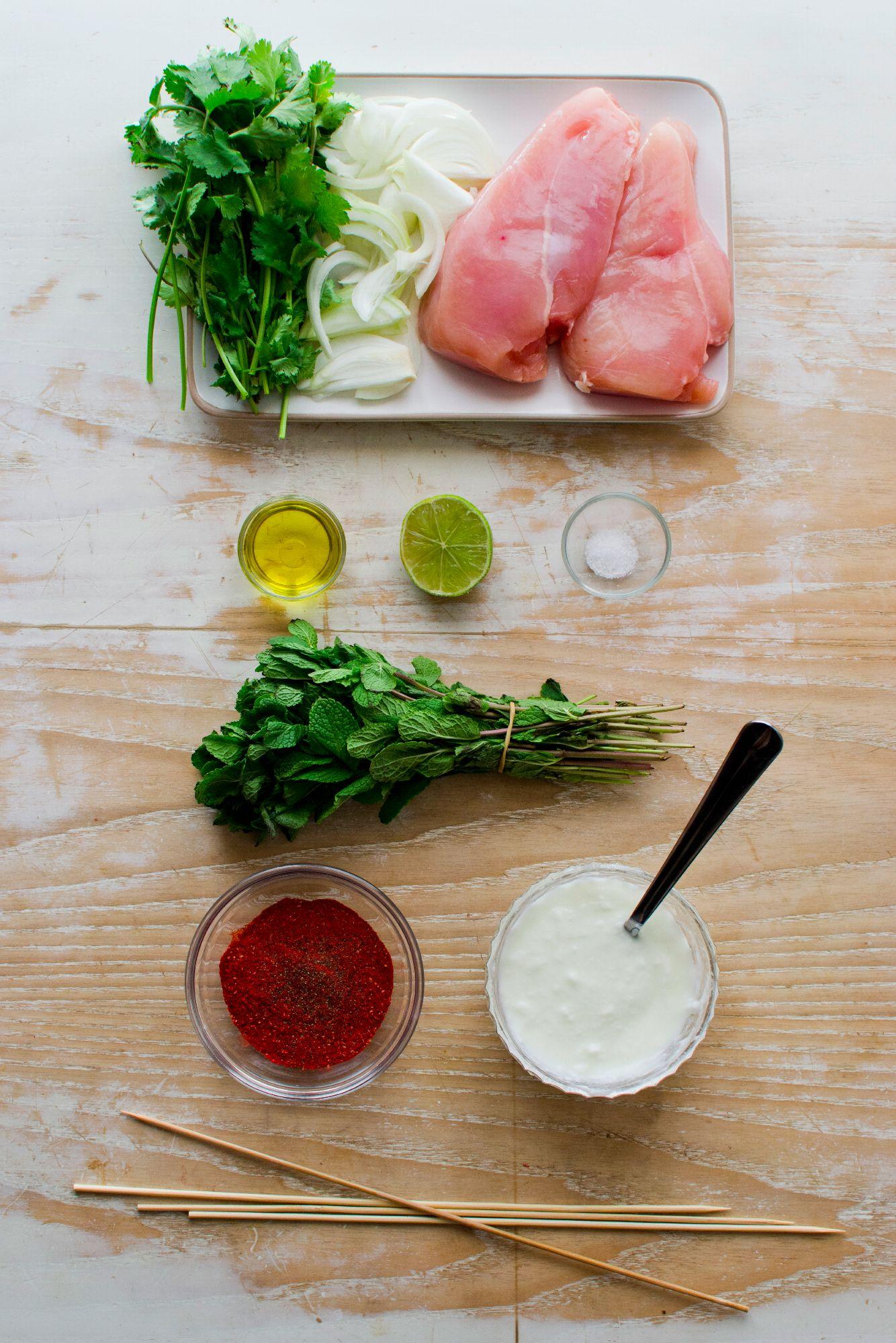 Ingrédients pour le poulet Tandoori