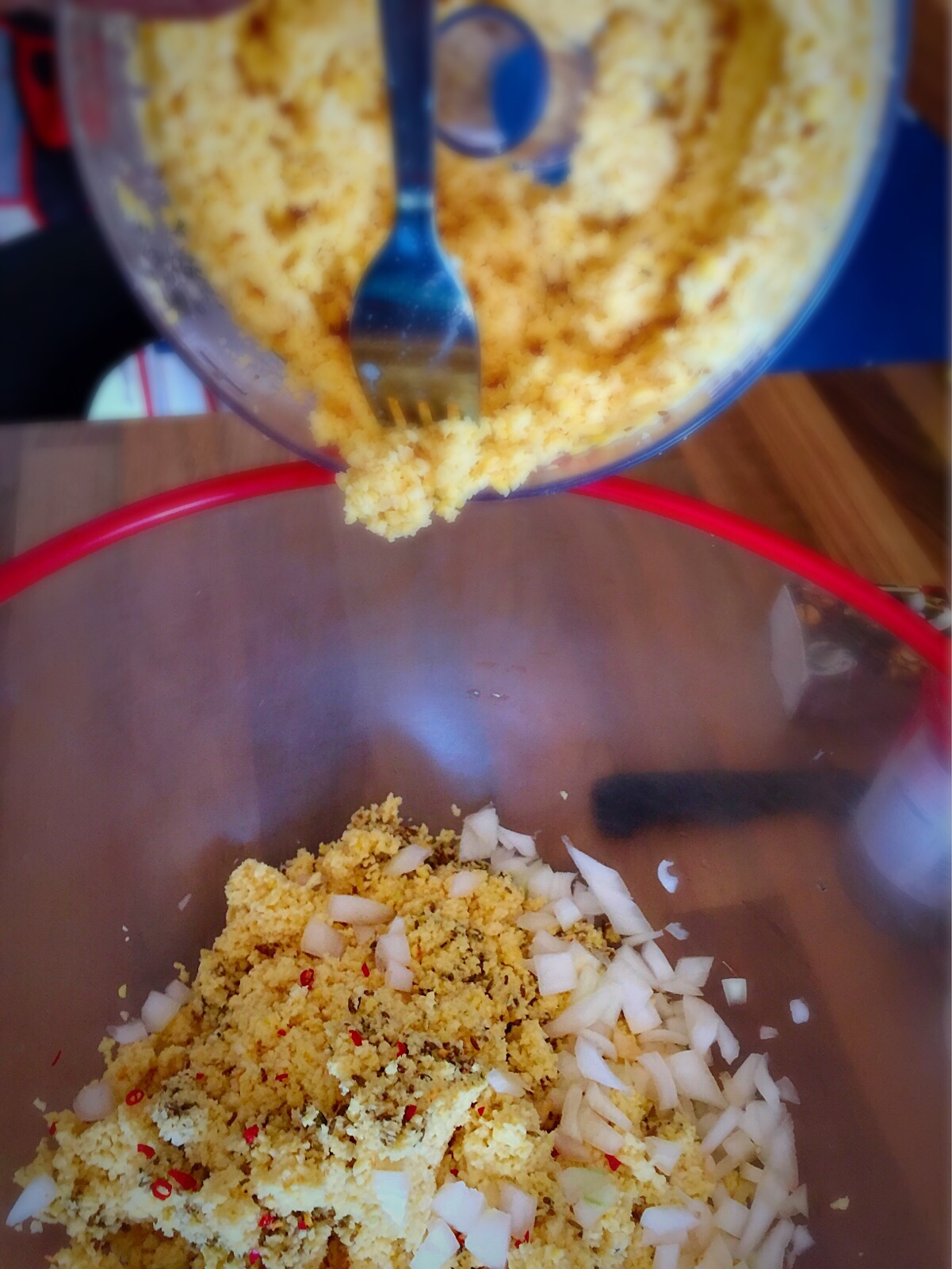 """Gâteaux piment"""" or """"Mauritian Chili Poppers""""made with yellow s..."""