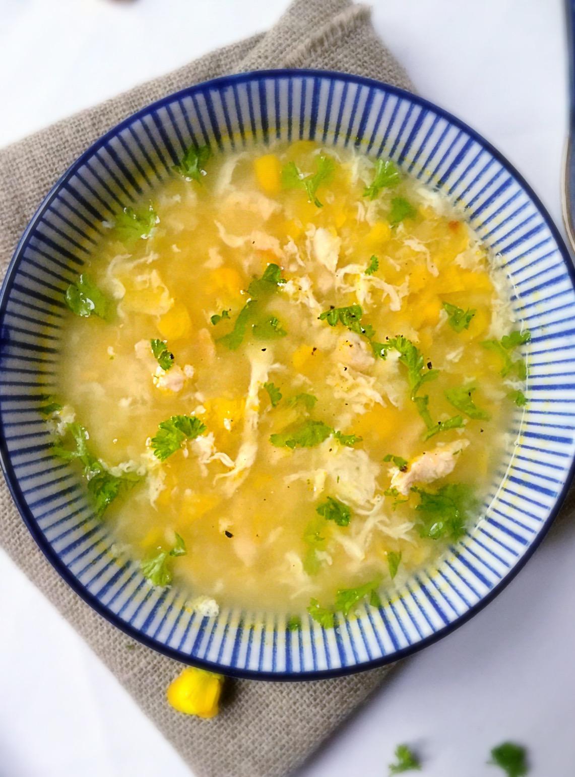 Soupe de maïs & de poulet