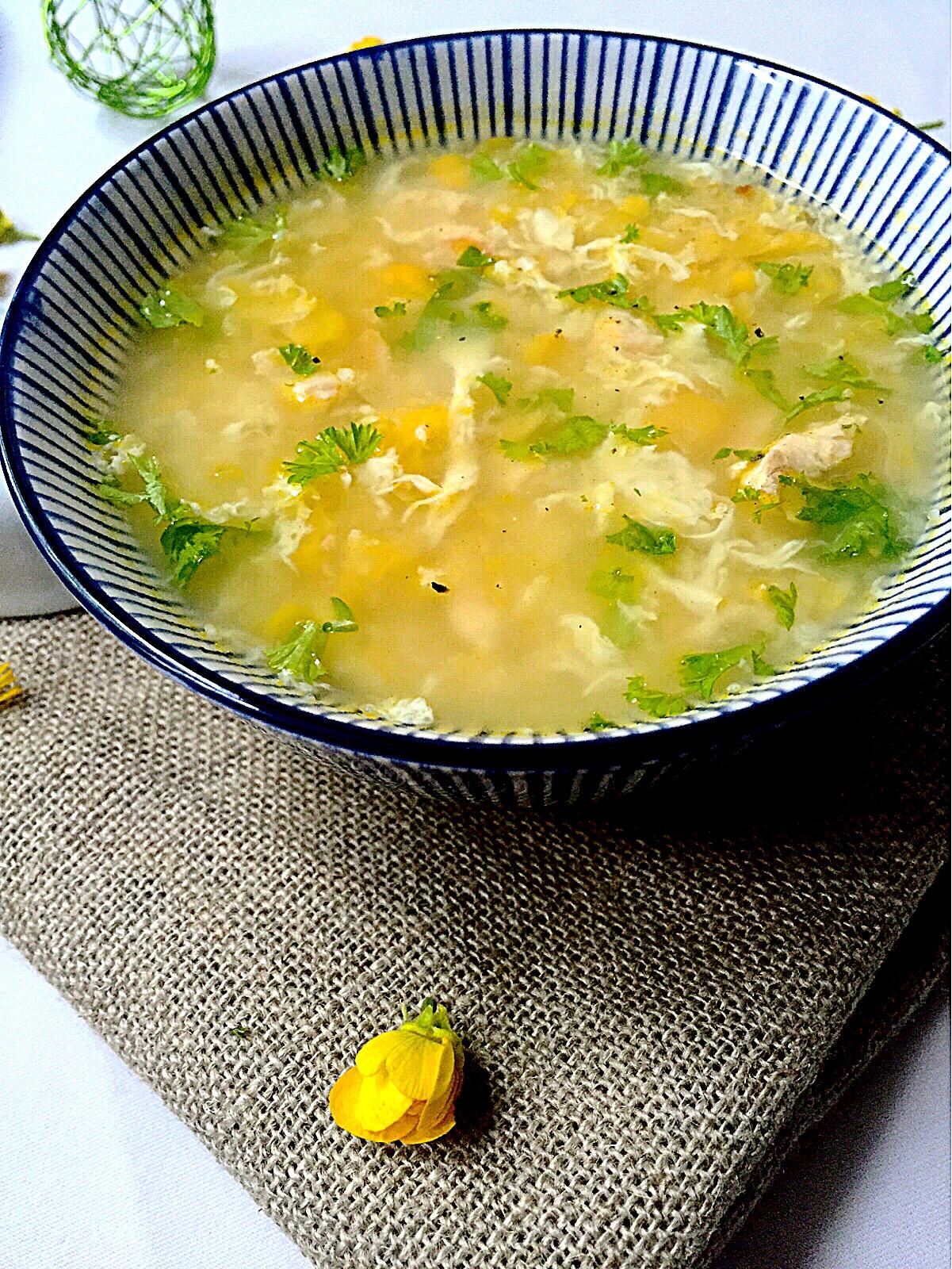 Soupe de poulet & maïs