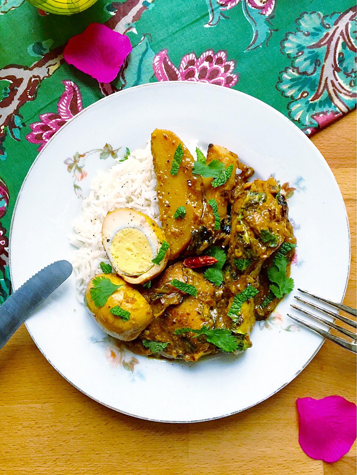 kalia de poulet : une spécialité épicée et colorée à la menthe et