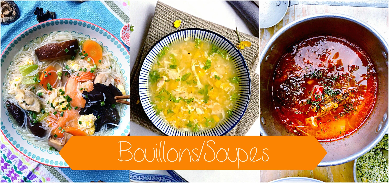 bouillons et soupes