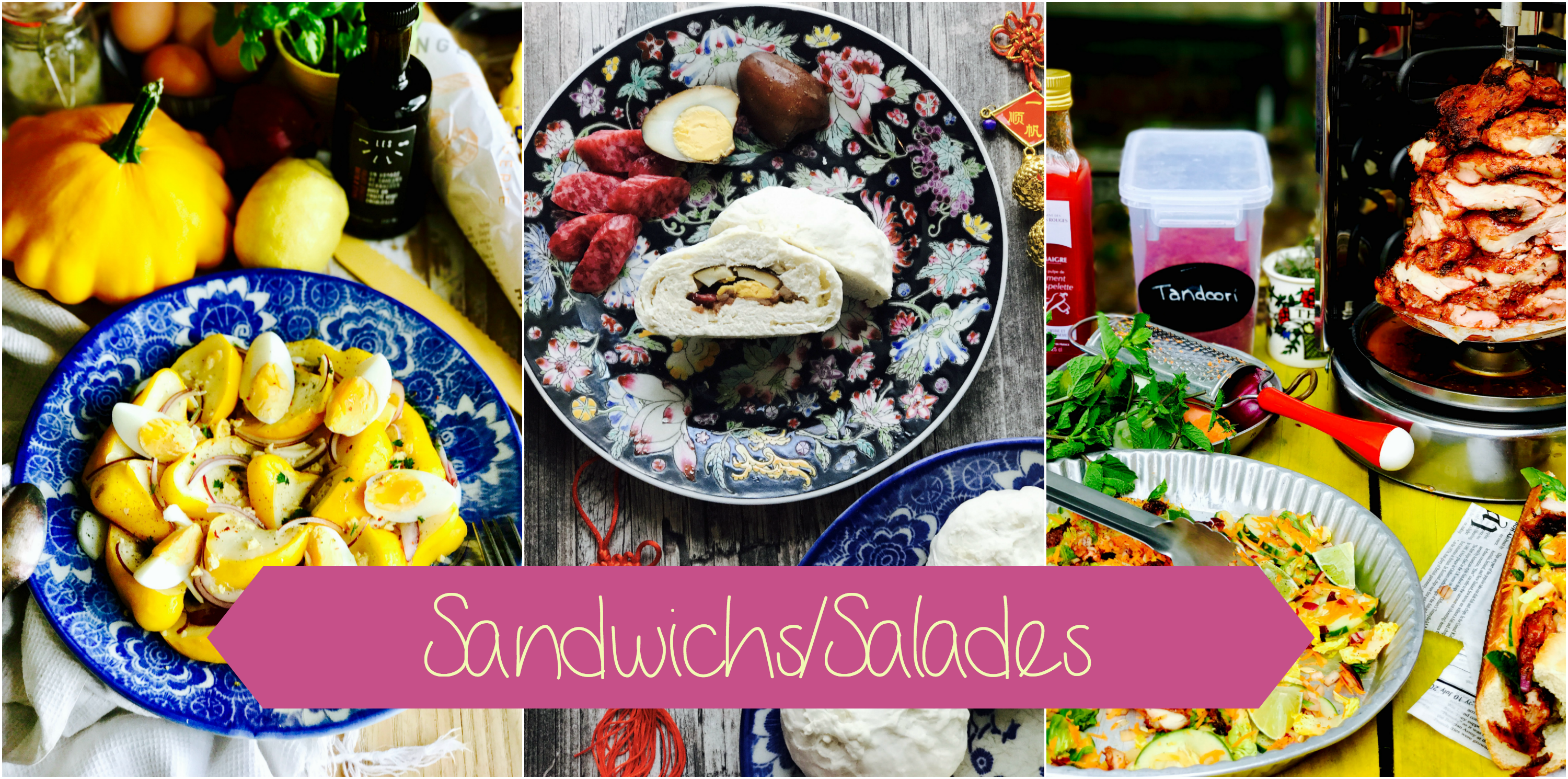sandwichs - salades - pains fourrés