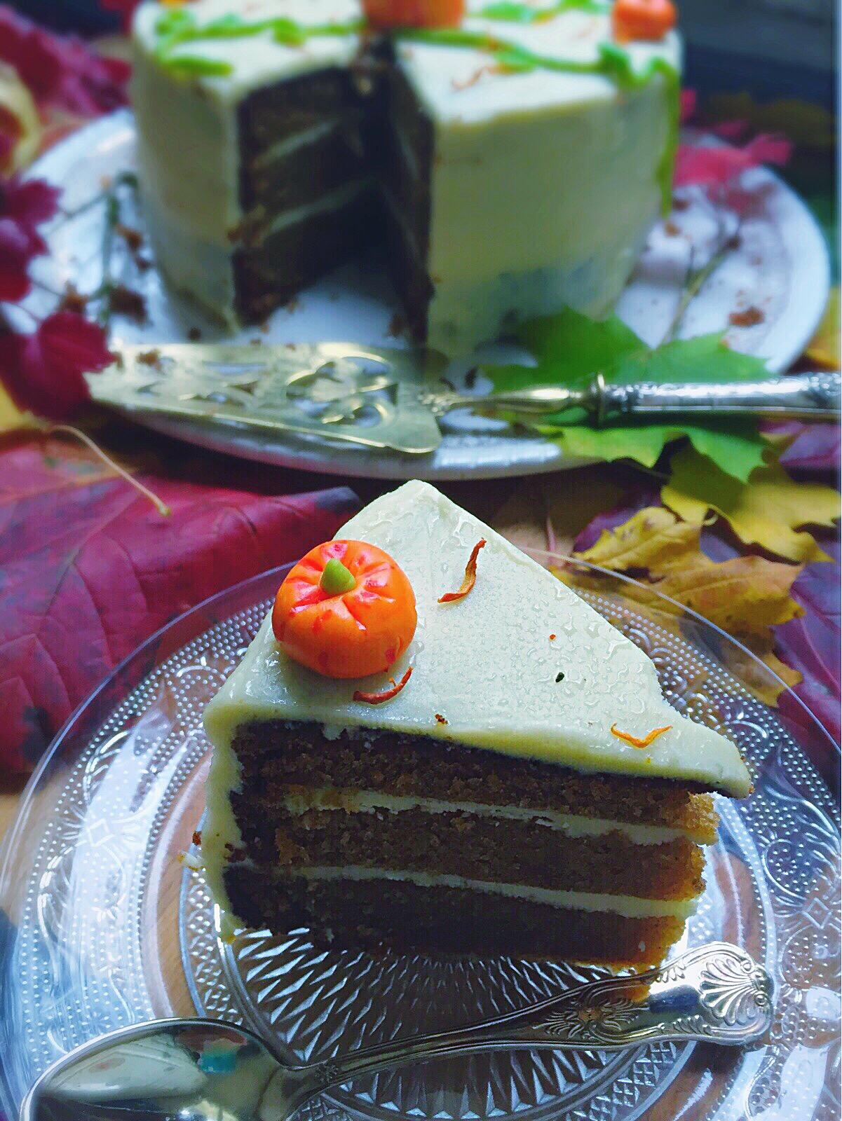 Part de Pumpkin cake