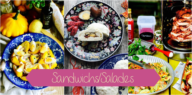 sandwichs - salades - pains fourrés